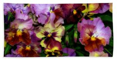 Pansy Mania Hand Towel by Diane Schuster