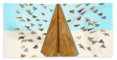 Paper Airplanes Of Wood 10 Hand Towel