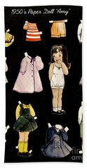 Paper Doll Amy Hand Towel