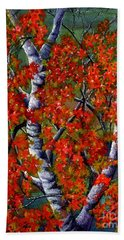 Paper White Birch Reflections Hand Towel