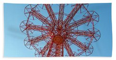Hand Towel featuring the photograph Parachute Jump-coney Island by Ed Weidman