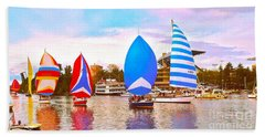 Parade Of Floating Colors Hand Towel