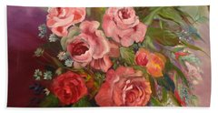 Parade Of Roses Hand Towel