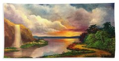 Paradise And Beyond Hand Towel by Randy Burns