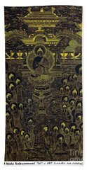 Paradise Of Holy Sakyamuni Bath Towel by Fei A
