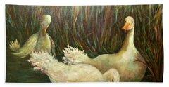 Paradise Pond,ducks  Bath Towel