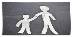 Hand Towel featuring the photograph Parent And Child Marking by Tom Gowanlock