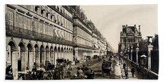 Paris 1900 Rue De Rivoli Hand Towel by Ira Shander