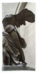 Paris Angel Louvre Museum- Winged Victory Of Samothrace Bath Towel