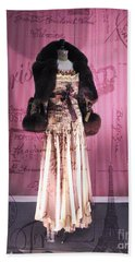 Paris Haute Couture Dress High Fashion - Window Shopping In Paris  Hand Towel