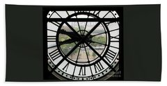 Hand Towel featuring the photograph Paris Time by Ann Horn