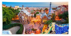 Park Guell In Barcelona - Spain Hand Towel