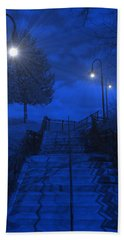 Hand Towel featuring the photograph Park Stairs by Michael Rucker