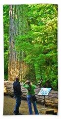 Park Visitors Hand Towel