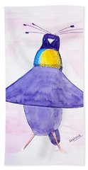 Parotia Dancing - Bird Of Paradise Hand Towel