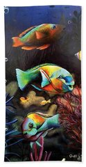Parrot Fish Hand Towel