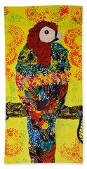 Parrot Oshun Hand Towel by Apanaki Temitayo M