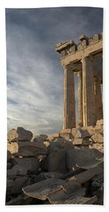 Parthenon From The South Hand Towel by Ellen Henneke