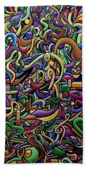 Party Life 2 - Modern Abstract Painting - Ai P. Nilson Hand Towel