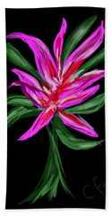 Hand Towel featuring the digital art Passion Flower by Christine Fournier