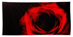 Passion. Red Rose Hand Towel