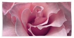 Passion Pink Rose Flower Bath Towel