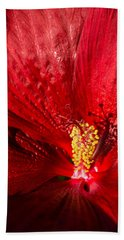 Passionate Ruby Red Silk Bath Towel