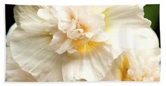 Hand Towel featuring the photograph Pastel Delphinium by Jerry Cowart