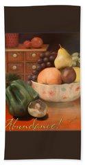 Abundance 2 - Pastel Art - Still Life Hand Towel