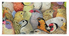 Bird Paintings Hand Towels