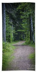 Path In Dark Forest Bath Towel