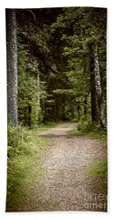 Path In Old Forest Bath Towel