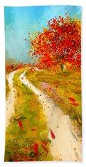 Path To Change- Autumn Impressionist Painting Bath Towel