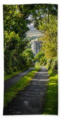 Hand Towel featuring the photograph Path To Newtown Castle by James Truett
