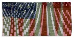 Patriotism Bath Towel by Patti Whitten