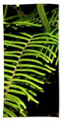 Hand Towel featuring the photograph Pauched Coral Fern by Miroslava Jurcik