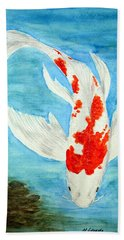 Paul's Koi Hand Towel by Marna Edwards Flavell