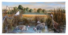 Paynes Prairie Preserve State Park- Day Of The Sand-hill Hand Towel