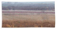Hand Towel featuring the photograph Paynes Prairie White Birds by Paul Rebmann