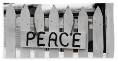Hand Towel featuring the photograph Peace by Fiona Kennard