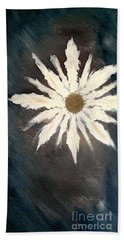 Hand Towel featuring the painting Peace Flower by Jacqueline McReynolds