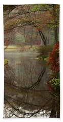 Peace In A Garden Hand Towel by Kathy Clark