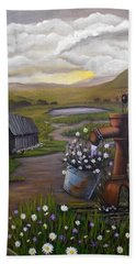 Peace In The Valley Hand Towel by Sheri Keith
