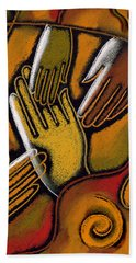 Peace Hand Towel by Leon Zernitsky