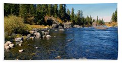 Peace On The Spokane River 2 Bath Towel