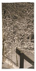 Bath Towel featuring the photograph Peaceful Blizzard by Fiona Kennard