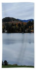 Peaceful Evening At The Lake Hand Towel