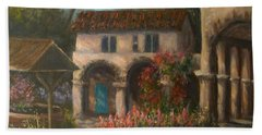 Peaceful Landscape Paintings Hand Towel