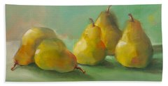 Hand Towel featuring the painting Peaceful Pears by Michelle Abrams