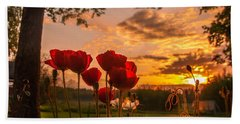 Peaceful Poppy Hand Towel by Rose-Maries Pictures